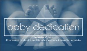 Baby Dedications @ The Alpine Chapel