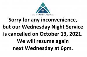 Service Canceled Tonight