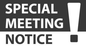 Special Member Meeting